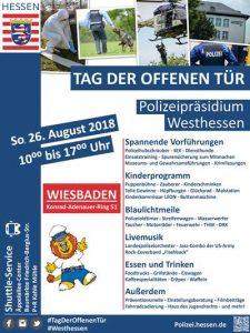 Freiwillige Feuerwehr Wiesbaden Stadtmitte, Plakat Tag der offenen Tür Polizeipräsidium Westhessen